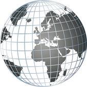Grey 3d globe — Stock Photo