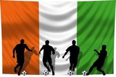 Soccer player Ivory Coast — Stock Photo