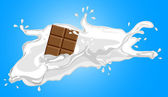 Illustration of milk with chocolate — Stock Photo