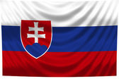 National Flag Slovakia — Stock Photo