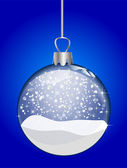 Christmas glass ball — 图库照片