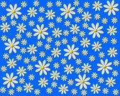Flower background blue white — 图库照片