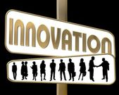 Business Motivation Sign Innovation — Stock Photo