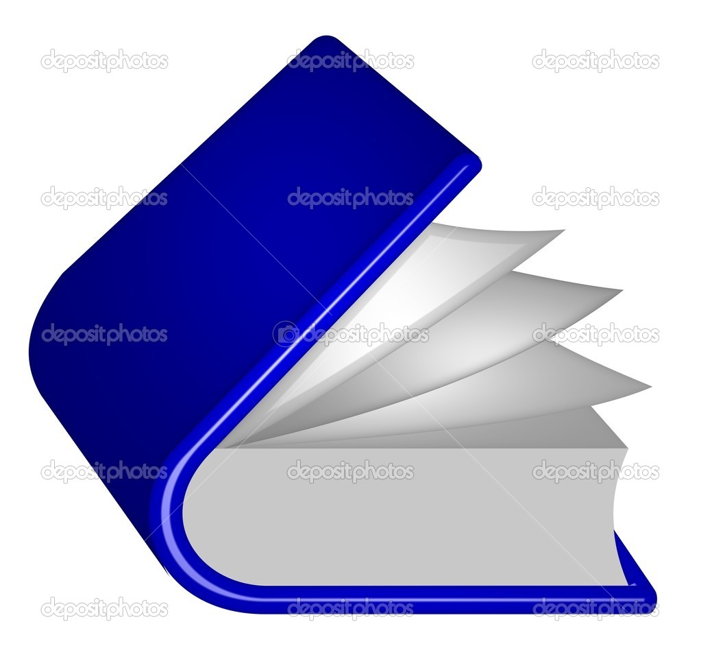 Illustration of a blue book — Stock Photo #1742122