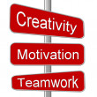 Business Motivation Sign Creativity — Stock Photo