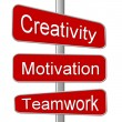 Stock Photo: Business Motivation Sign Creativity