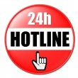 Stock Photo: 24h Hotline Button