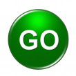 Go Button — Stock Photo #1750096
