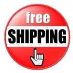 Free Shipping Button — Stock Photo #1750103