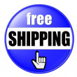 Royalty-Free Stock Photo: Free Shipping Button