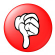 Thumbs down button — Stock Photo