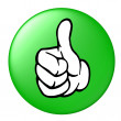 Thumbs up button — Foto de Stock