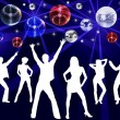 Dancing in Night Club — Stock Photo