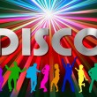 Dancing in Disco - Stockfoto