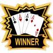Quad Aces are Winner — Stock Photo #1750295