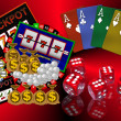 Stock Photo: Background with casino symbols