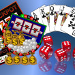Background with casino symbols - Stock Photo