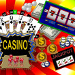 Background with casino symbols — Stock Photo #1750365