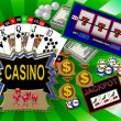 Background with casino symbols — Stock Photo #1750367