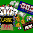 Background with casino symbols — Stock Photo #1750370