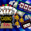 Background with casino symbols — Stock Photo #1750374