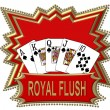 Stock Photo: Royal Flush Logo red