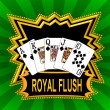 Stock Photo: Royal Flush Background green