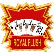Royal Flush Logo red — Stockfoto #1750430