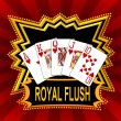 Stock Photo: Royal Flush Background red