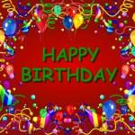 Happy Birthday Baclground red — Stock Photo