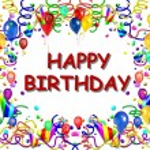 Happy Birthday Baclground white — Stock Photo
