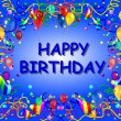 Happy Birthday Baclground blue - Foto Stock