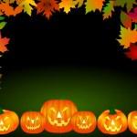 Halloween Frame with pumpkins — Stock Photo