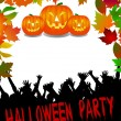 Royalty-Free Stock Photo: Halloween Party Placard