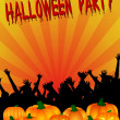 图库照片: Halloween Party Placard