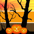 Halloween pumpkins background — Stock Photo #1750548