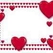 Stock Photo: Red hearts frame