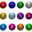 Colored Zodiac symbols — Stock Photo #1750645