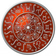Zodiac Disc red — Stock Photo