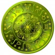 Foto de Stock  : Zodiac Disc green
