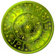 图库照片: Zodiac Disc green