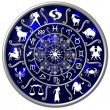 Zodiac Disc blue — Stock Photo