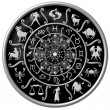 Zodiac Disc black — Stock Photo