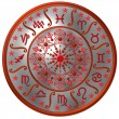 Zodiac Disc silver — Stock Photo