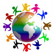 Peace around the world — Stock Photo