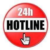 24h Hotline Button — Stock Photo