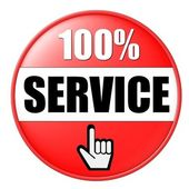 100% Service Button — Stock fotografie