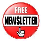Free Newsletter Button — Stock Photo