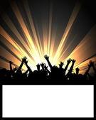 Dans partij plakkaat — Stockfoto