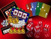 Background with casino symbols — 图库照片